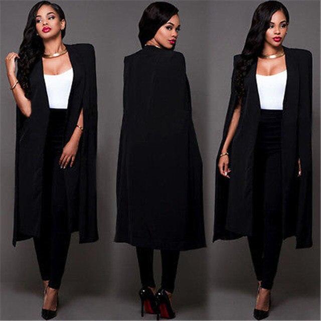 Прохладный женщина Случайные Блейзер Женщины Теплый Мода Простой Мода Прохладный Длинные Пальто Шанца Куртки Ветровка Куртка Верхняя Одежда