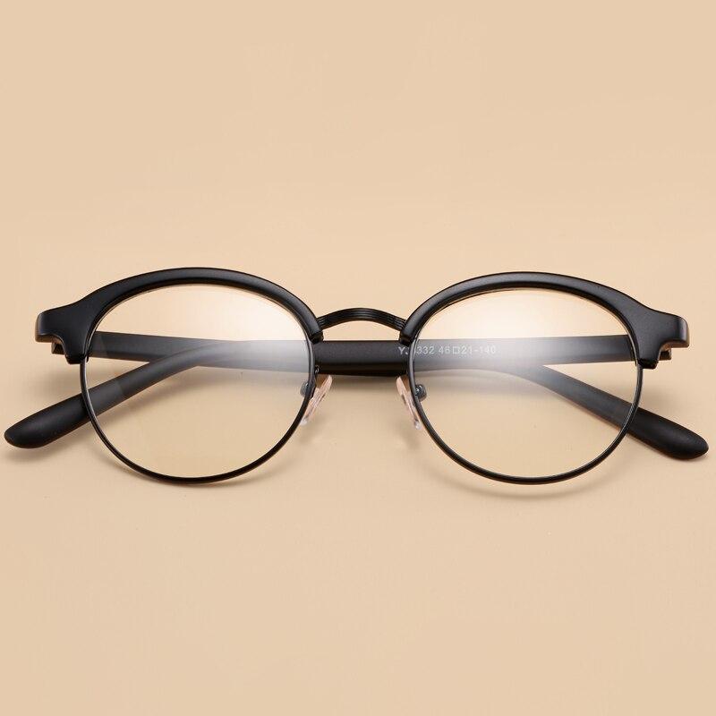 2016 new korean fashion vintage round frame tr90 eyeglasses menwomen retro classic circle flexible