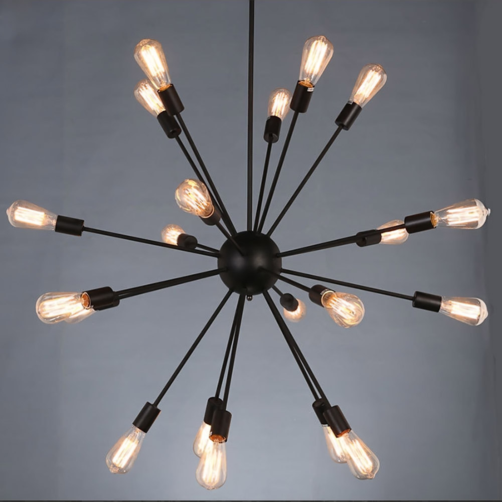 E27 Edison Bulbs Vintage Industrial Loft Pendant Light 12 15 18 20 Heads Sputnik Pendant Lamp