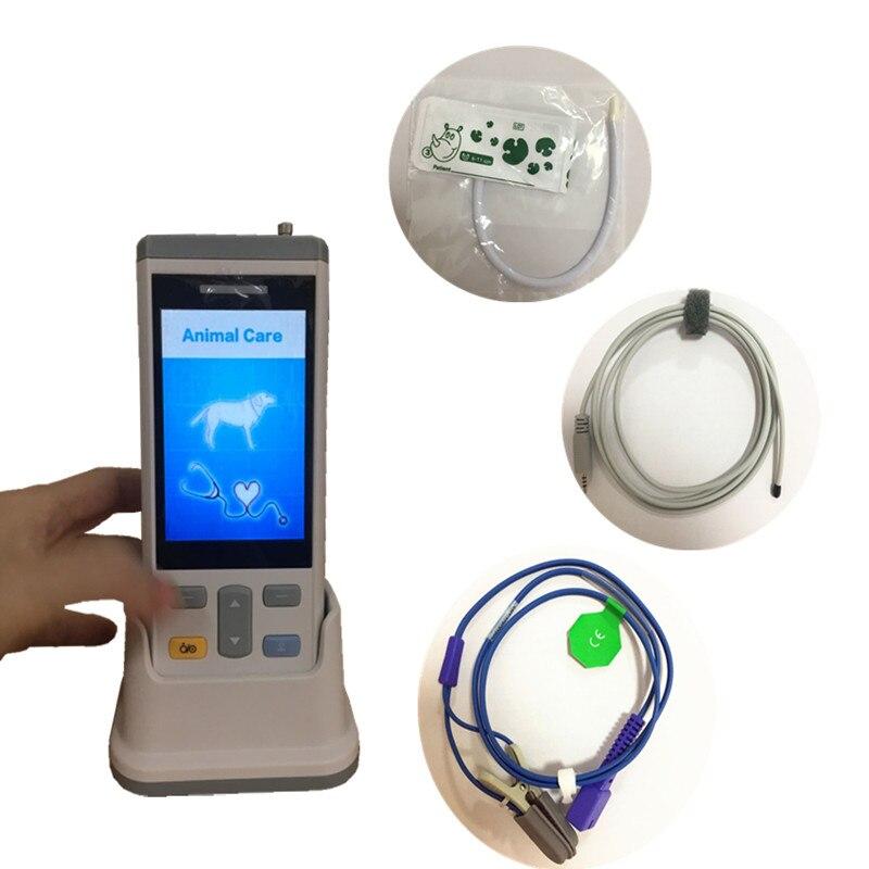 3,5 дюйма перенасной Ветеринарный монитор основных жизненных показателей использования животных монитор для кошки/собаки, Мышь использован...