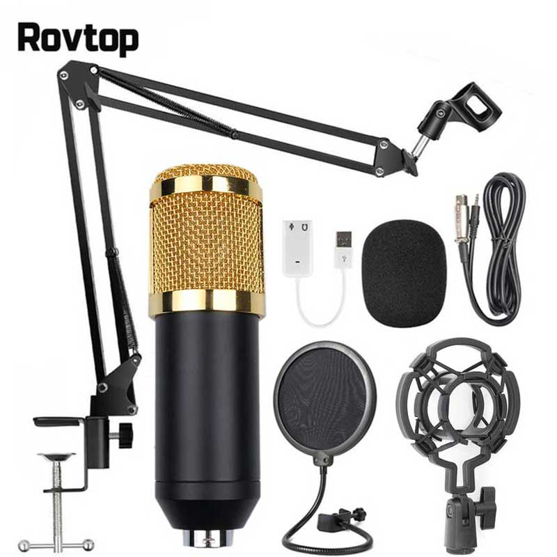 buy professional condenser audio wired bm800 studio microphone vocal. Black Bedroom Furniture Sets. Home Design Ideas