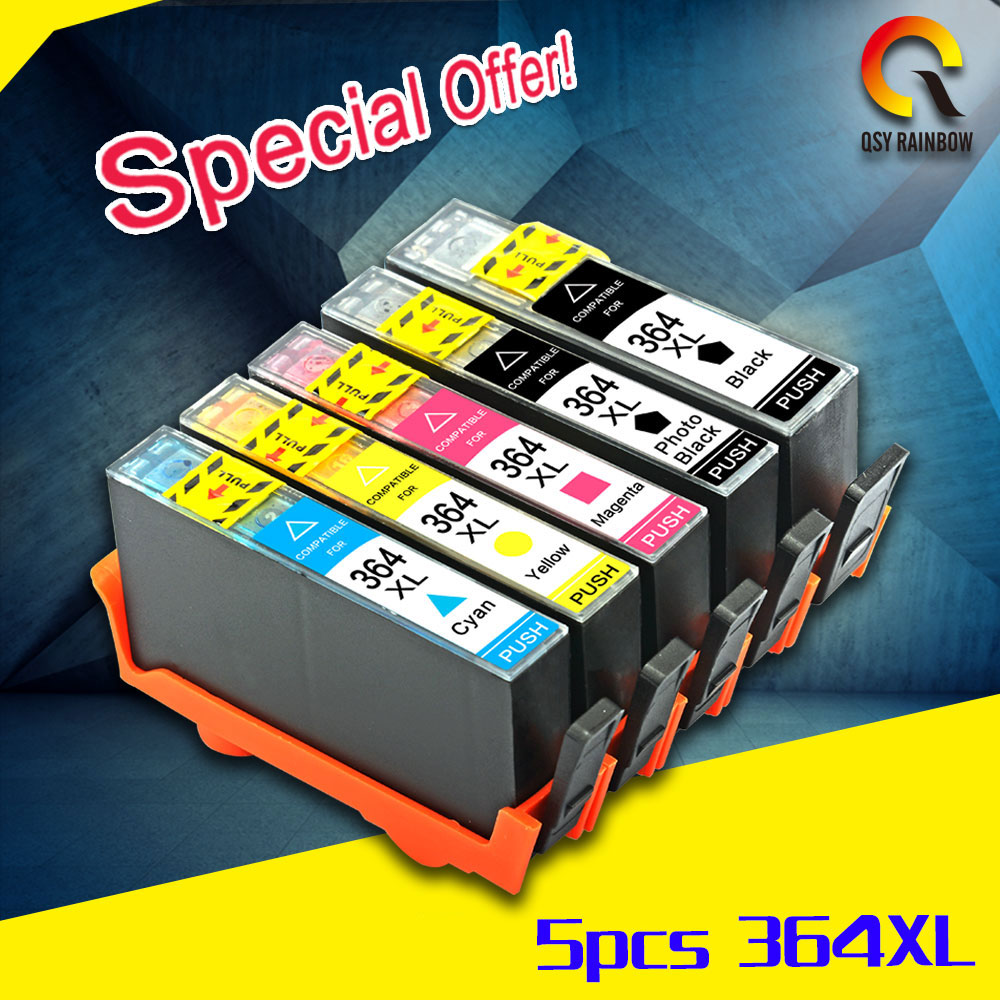 5Pack 364XL Ink Cartridge Replacement for HP 364 xl cartridges for Deskjet 3070A 5510 6510 B209a