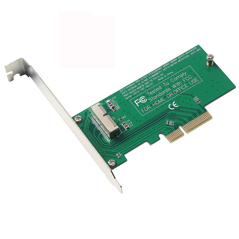 PCI-Express PCIE PCI-E To 4X Adapter Card SSD Converter Card For Apple 2015 2014 2013 MacBook Air A1465 Mac Pro MD878 ME253 SSD