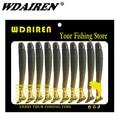 20 unids/lote señuelo de pesca 47mm 0,7g pike bajo cebos blandos t cola atraer plantilla gancho cebos de todos para la Pesca de cebo de Pesca