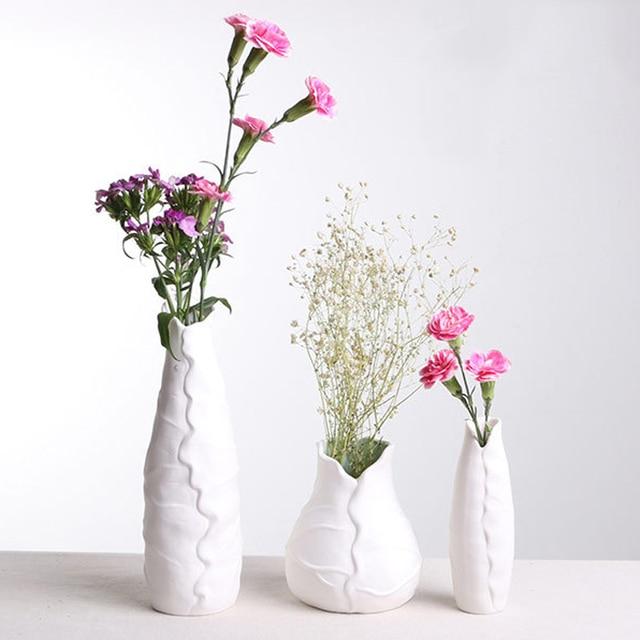 Creative Style Lotus Leaf Ceramic Flower Vase Simple Style Desktop  Decorative Vase Household Decorative Accessories 8035