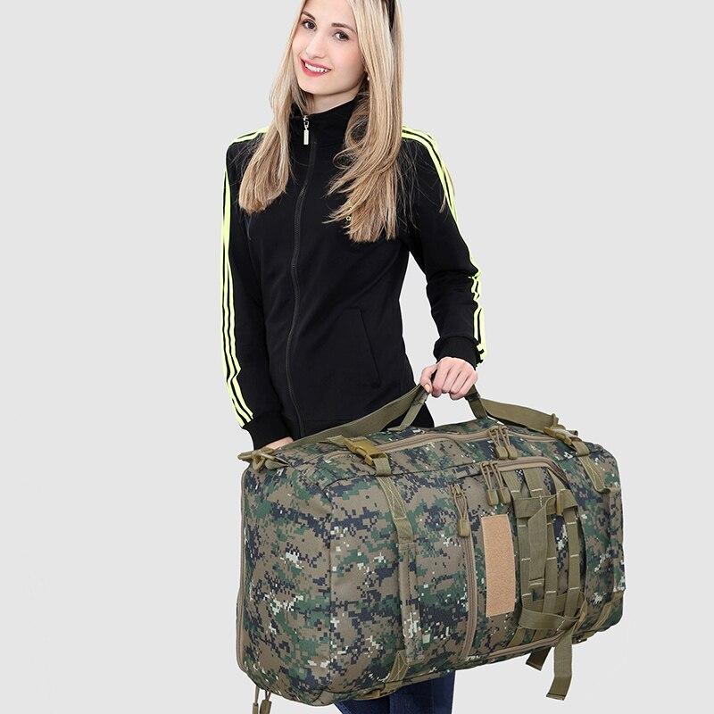 Hommes femmes alpinisme sac à dos militaire tactique Camouflage sac extérieur Camping randonnée Trekking étanche 50 L femme voyage - 5