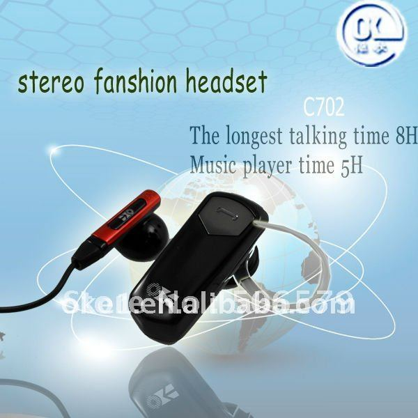 free shipping Fashion Bluetooth Stereo earphone headset handsfree