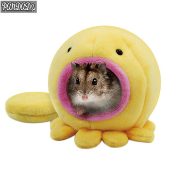 Cage For Hamster House Animal Warm Sweet Hamster Cage Bird Soft Beds Toy Tat Fleece Octopus Shape 1