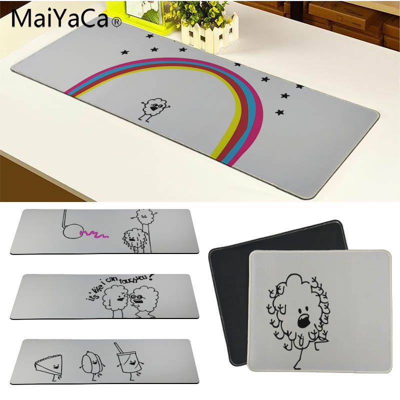 MaiYaCa Cool New Black and white stick figure Office Mice Gamer Soft Mouse Pad Size for 18x22cm 20x25cm 25x29cm 30x80cm 30x90cm