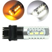 цена на 50W 3157 Dual Color 5630 Yellow White LED Switchback Turn Signal Lamp Light Bulbs
