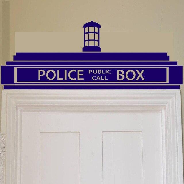 Frete Grátis Doctor Who Tardis Box Polícia Criativo Adesivo De  Parede/Decoração De Design Crianças Part 22