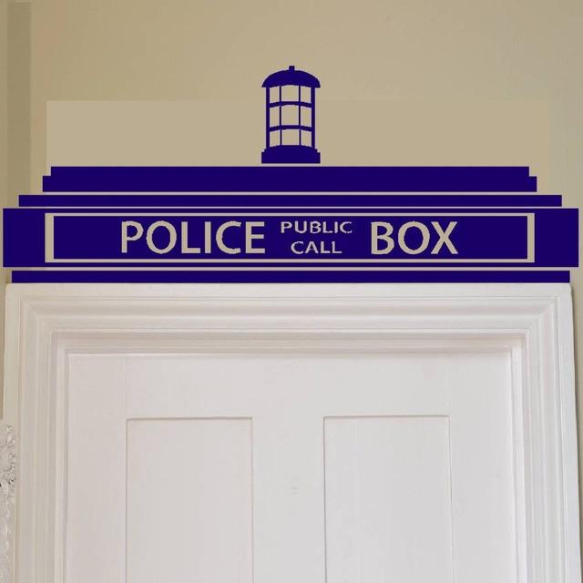 good looking doctor who tardis door decal. free shipping Creative Doctor Who Tardis Police Box Wall Sticker  Decor Design Kids Transfer Vinyl