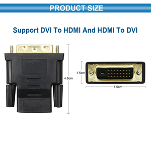 Image 3 - Адаптер кабель 1080P DVI 24 + 1 к HDMI, позолоченный штекер «Папа мама», кабель HDMI DVI, конвертер для HDTV, проектора, монитора