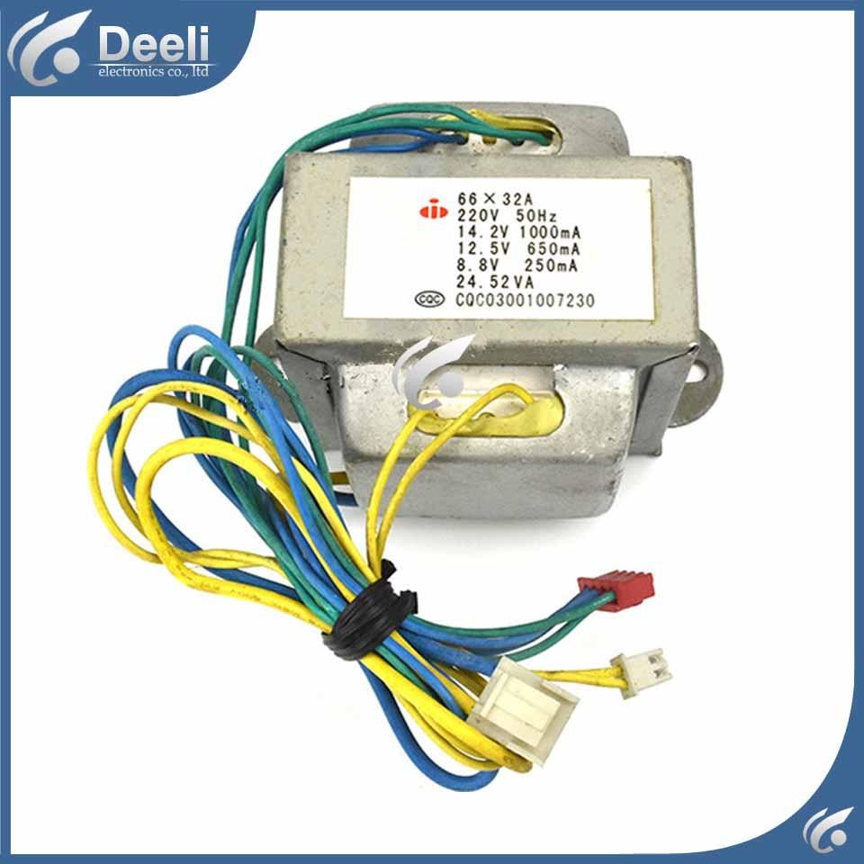 цена на Air conditioning transformer air conditioning parts 66X32A 14.2V 12.5V 8.8V 24.53VA power transformer voltage 12V+8.5V