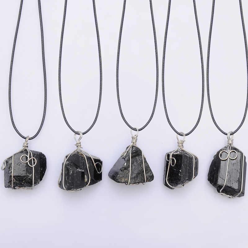 Moon Vintage Irregular Natural Stone Pendant Necklaces Necklace Multi Spar Quartz Crystals Jewelry