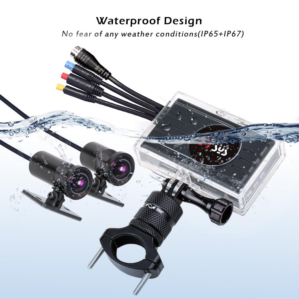 SYS VSYS M2F Pro WiFi Motorfiets Dash Cam 2CH 1080P SONY IMX323 170 Graden Groothoek Fish Eye Lens motorfiets Camera Recorder - 5