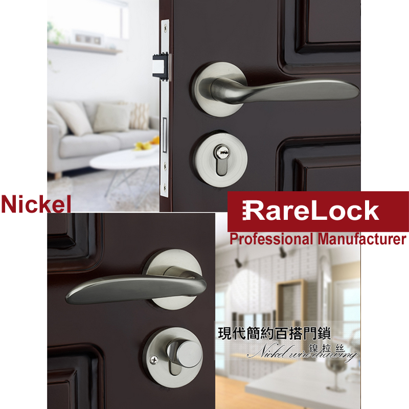 ФОТО Rarelock Christmas Supplies Handle Door Lock Beautiful Women Bathroom Bedroom Dress room Wooden Door Hardware DIY a