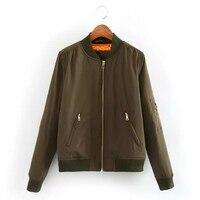 O envio gratuito de Inverno parkas Mulheres jaqueta bomber básico legal Exército Verde para baixo casaco jaqueta Acolchoada com zíper motociclista chaquetas outwear