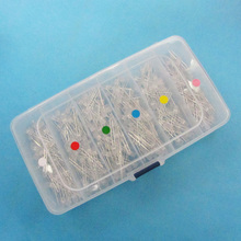 10 pcs/color 6 color 5mm Blue Green White Yellow Red Pink LED  Foggy Lamp Plug-in DIY Assorted Kit DIP with Mini Storange Box