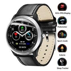 Astuto Della Vigilanza ECG PPG Prodotti Smart per il Fitness Banda Heart Rate Monitor di Pressione Sanguigna Orologio Da Polso Impermeabile Smartwatch per IOS Android Vigilanza Del Telefono