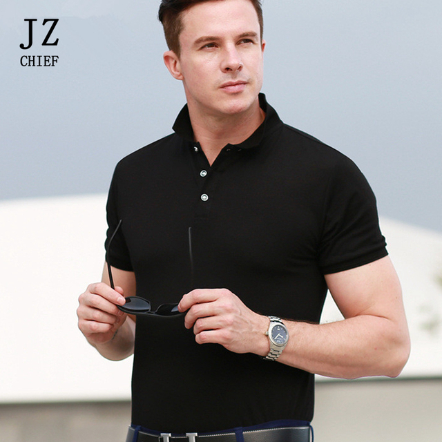 a18fa0ceb36 Polo Shirts Korte Mouw Heren Casual Slim Fit Cotton Man Solid Plus Size  polo homme