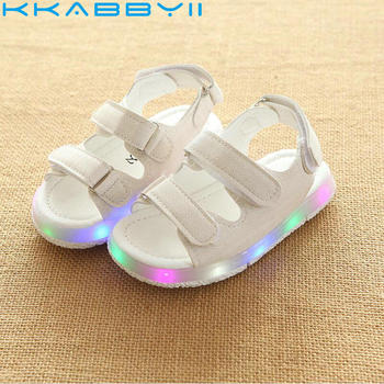 2018 New Brand glowing kids sandals shoes boys girls flat baby led luminous lighting sneakers sandals
