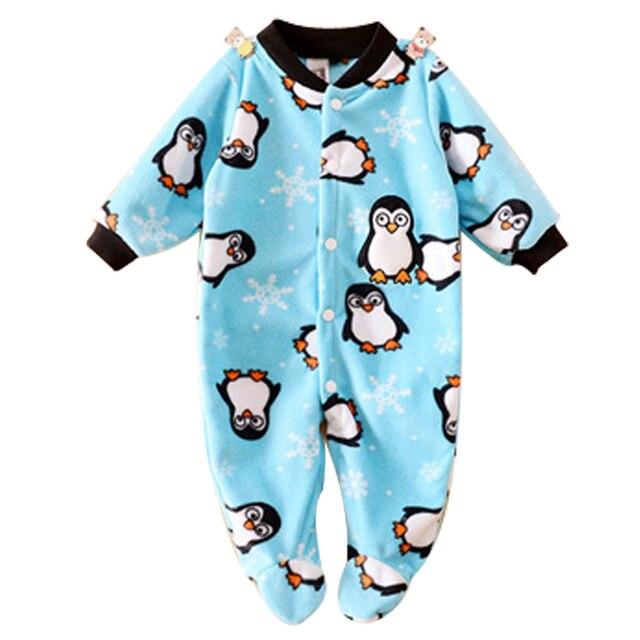 4554827c0f6c Brand Baby Clothes Pajamas Newborn Baby Rompers Animal Infant Fleece ...