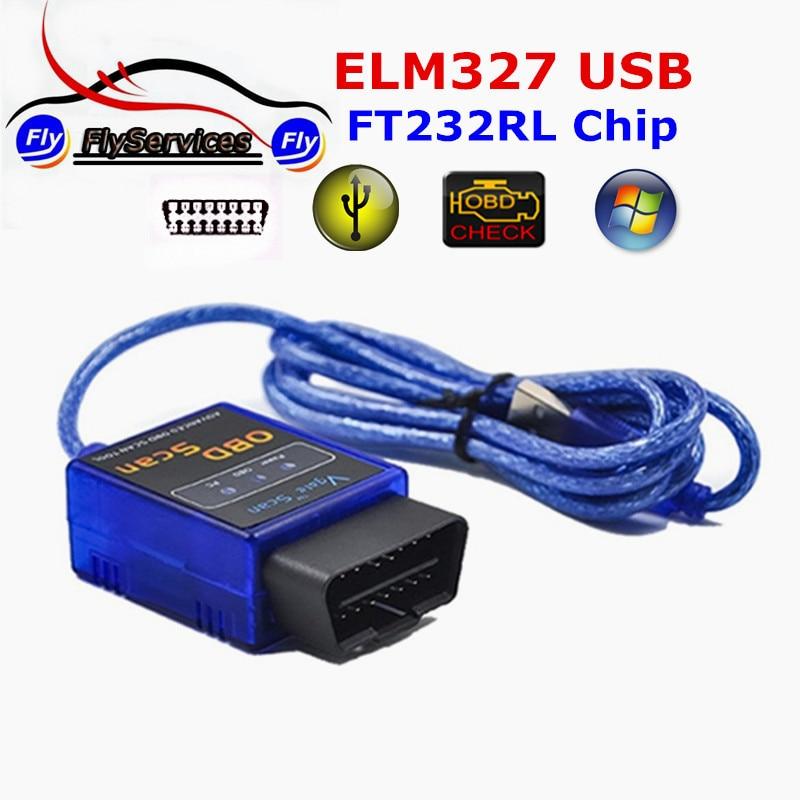 Vgate ELM327 USB с оригинальным импортированных FT232RL чип сканирования читатель автоматически код OBD SCAN автомобиль инструмент диагностики Vgate USB ELM ...