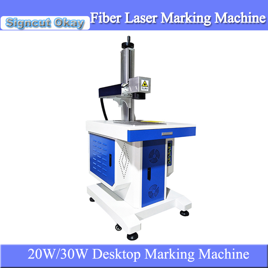 Factory Supply Desktop Fiber Laser Metal Engraving Machine Laser Marking Machine For Metal Materials Diy Logo Marker