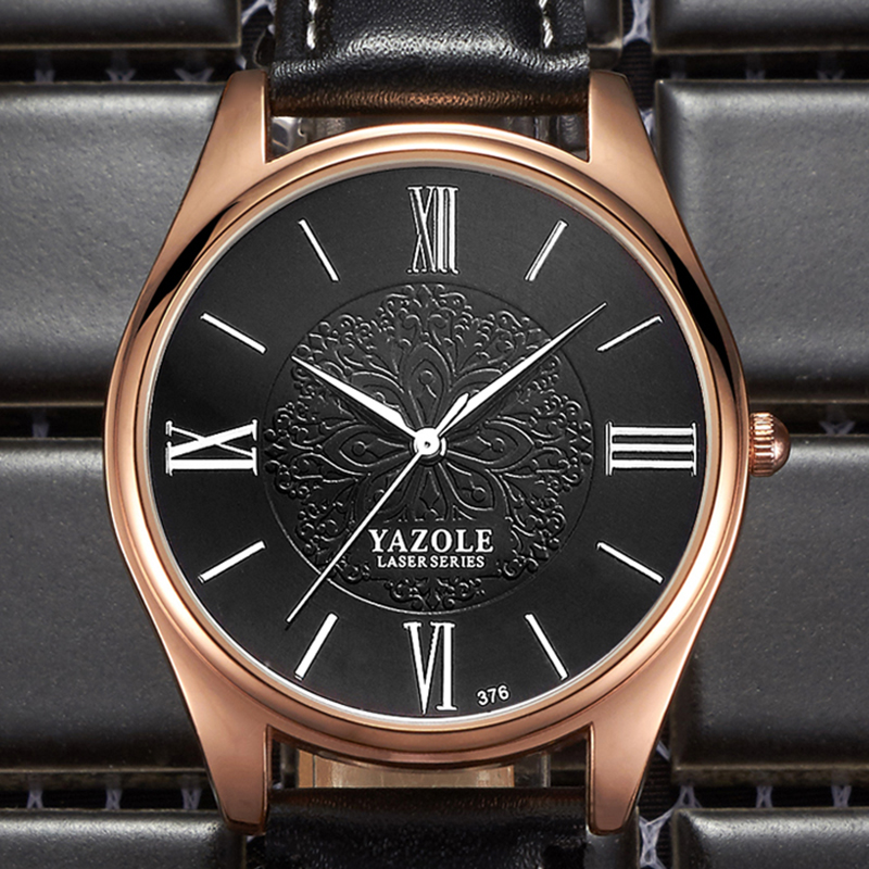 2018 YAZOLE Top Brand Luxury Mens Watches Fashion Business Men's Watch Men Watch Leather Clock relogio masculino erkek kol saati