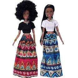 Модные детские куклы для девочек, детская подвижная шарнирная африканская кукла, игрушка, черная кукла, лучший подарок, игрушка, горячая рас...