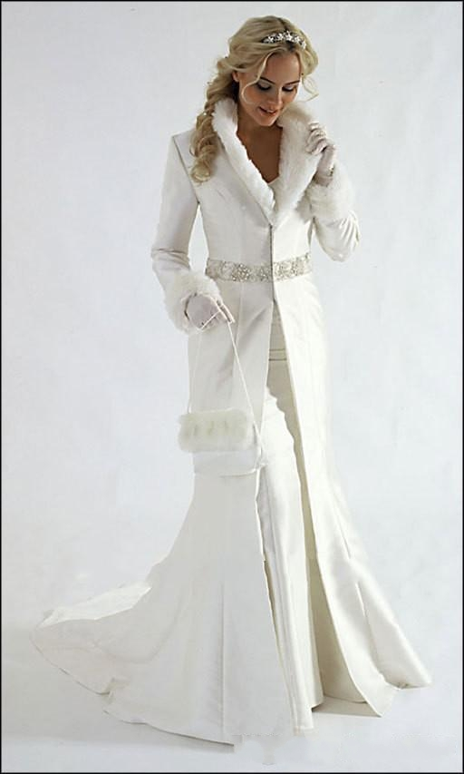 Popular Long Sleeve Winter Wedding Dresses-Buy Cheap Long Sleeve ...