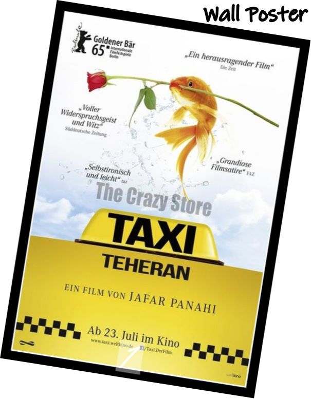 Taxi Tehran Movie Home Decorative Painting White Kraft Paper Poster 42X30cm in Wall Stickers from Home Garden