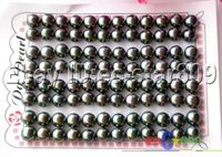 Hot Sell New Hot Sale Free Shipping 30PCS WHOLESALE 8MM PEACOCK BLACK ROUND PEARL EARRING