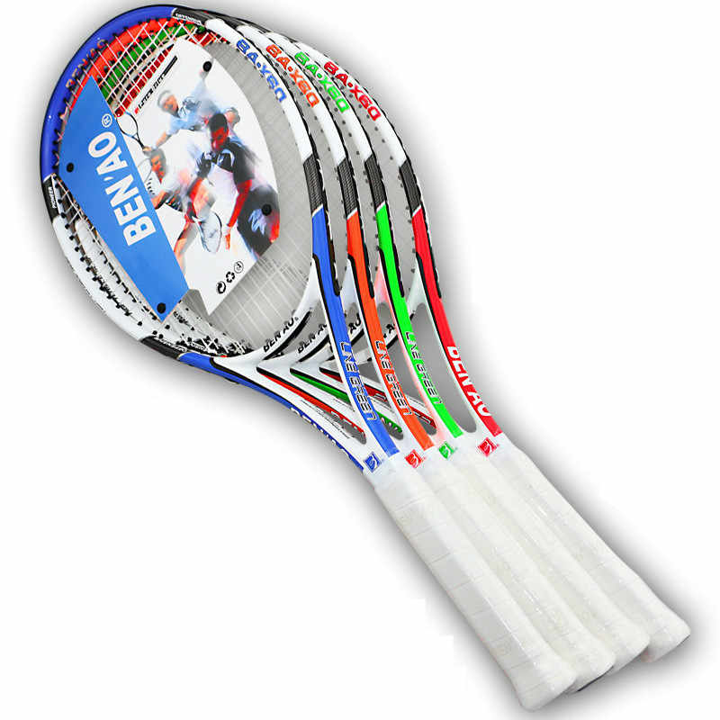 Aluminum alloy carbon tennis racket carbon fiber ultra-light competition training tennis racket for men and women