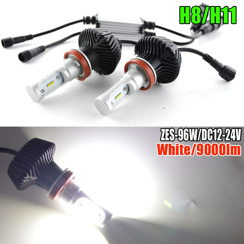 SET CAR LED LIGHT 9000LM 48W/set 6000K White Fog Lamps Auto Car LED Headlights Kit H4 H7 H9 H11 9005 HB3 9006 HB4 tc x upgrade led car headlight bulb kit h7 80w set h4 hi lo head lamp fog light kit h11 hb3 hb4 led auto front bulbs wholesale