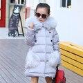 2016 Мода девушки Вниз куртки/пальто зима Россия детские Пальто толстая утка Теплая куртка Детей Outerwears-30 градусов куртки
