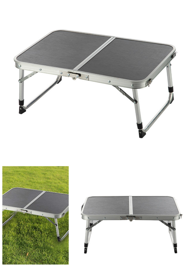 Portable Aluminum Alloy Two Folded Outdoor Folding Table Adjustable Light Weight Camping Foldable Tables for Picnic 2017 high quality outdoor portable foldable tables beach tables advertising exhibition table