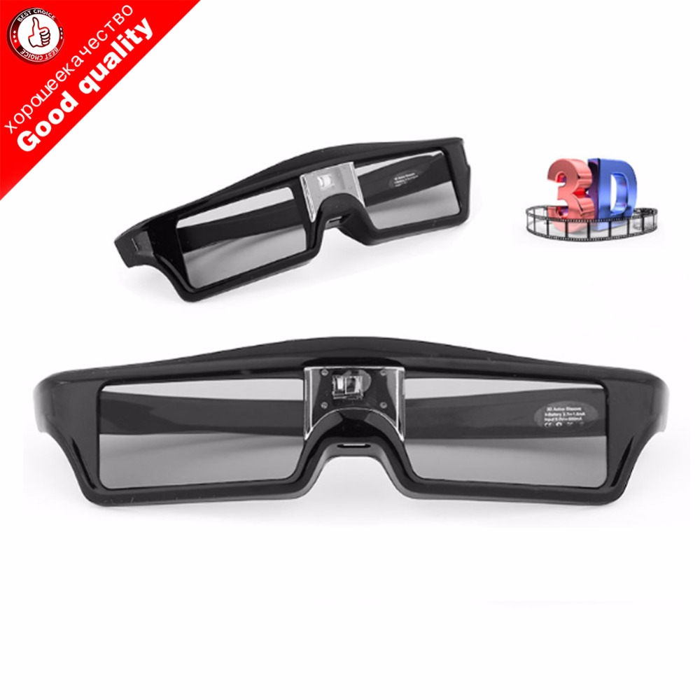 NEWEST Professional Universal for DLP LINK Shutter Active 3D Glasses replace DLP Projector for optoma Sharp LG Acer BenQ epson