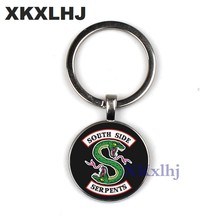 XKXLHJ Riverdale Keychain Mysdale of Riverdale Pendant Jewelry Glass Key Chain Charm Pendant Men's and Women's Fashion Jewelry(China)