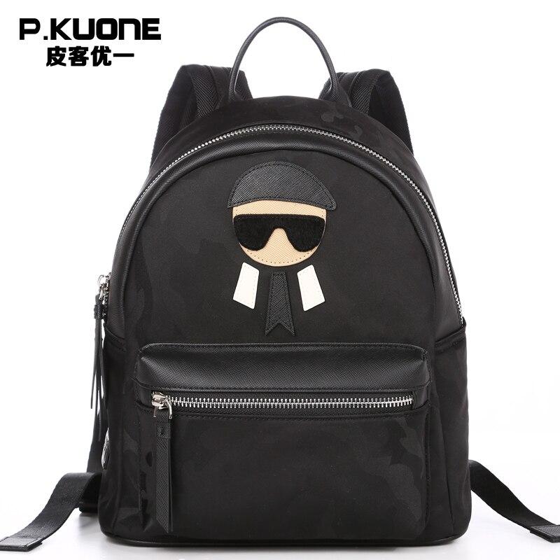 P.KUONE Brand Famous Designer Camouflage Cool Backpack Men Printing Laptop Backpack Male Teenager School bag Backpack sac a dos сумка через плечо bolsas femininas couro sac femininas couro designer clutch famous brand