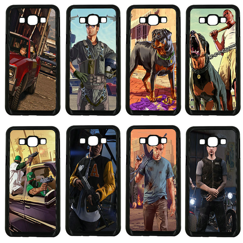 GTA San Andreas GTA Grand Theft Auto 5 V Phone Cases Hard Cover for Samsung Galaxy J1 J2 ...