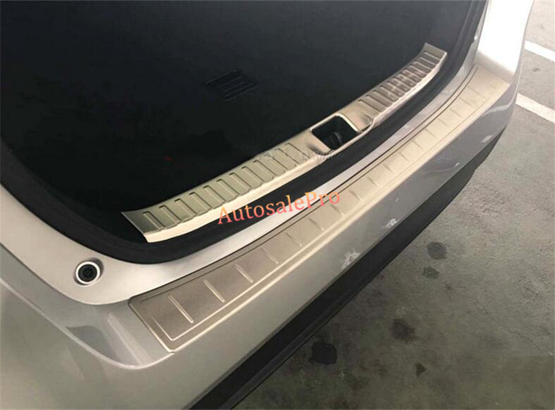 Steel outer & inner Rear Bumper Protector threshold Sill Plate Cover trim 2pcs For Toyota Prius 2016 more fun for kia sorento l 2016 2017 rear bumper inner outer door sill protector plate 2 pcs set
