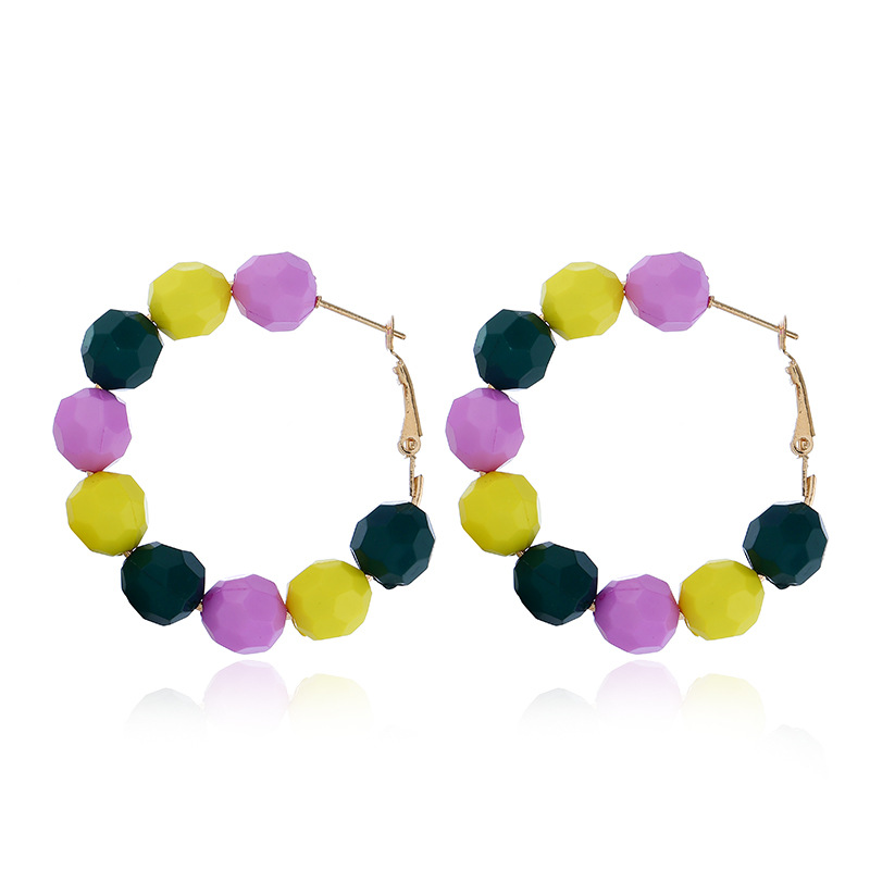HTB1Ao xbBCw3KVjSZFlq6AJkFXaL - 2019 Earrings Women Summer Color Geometric Round Hoop Earring New Red Yellow Candy Color Metal Round Earring For Women Jewelry