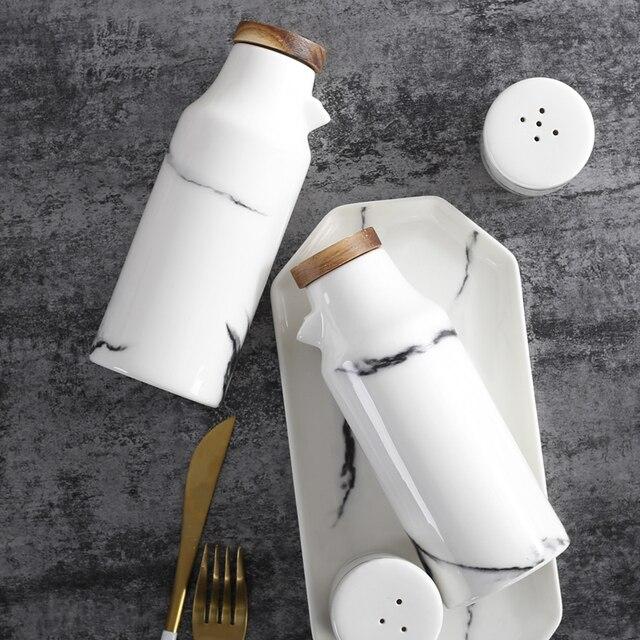 Ceramic Salt And Pepper Oil Bottle Set Porcelain Olive Soy Seasoning Oil Vinegar Bottles wedding favors.jpg 640x640 - tabletop-and-bar, dinnerware - Marble Seasoning Set