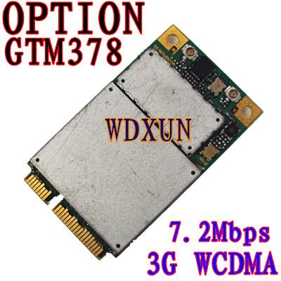 Para la Opción GTM378 GTM 378 GPS GSM WWAN PCI-E 3G 7.2 Mbps MÓDEM