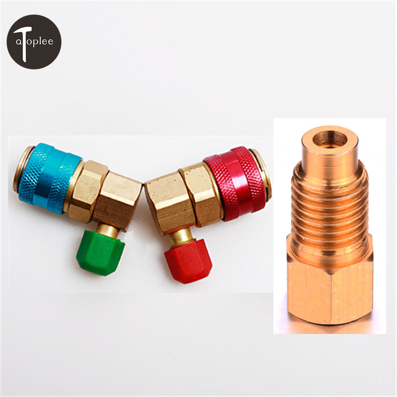 3PCS/set Car R134A Auto Quick Coupler Valve Adaptor 1/4 SAE Male Flare Pump R12 to R134a Hose Connections Adapter high quality quick coupler with 1 4 sae flare connector for refrigeration equipment