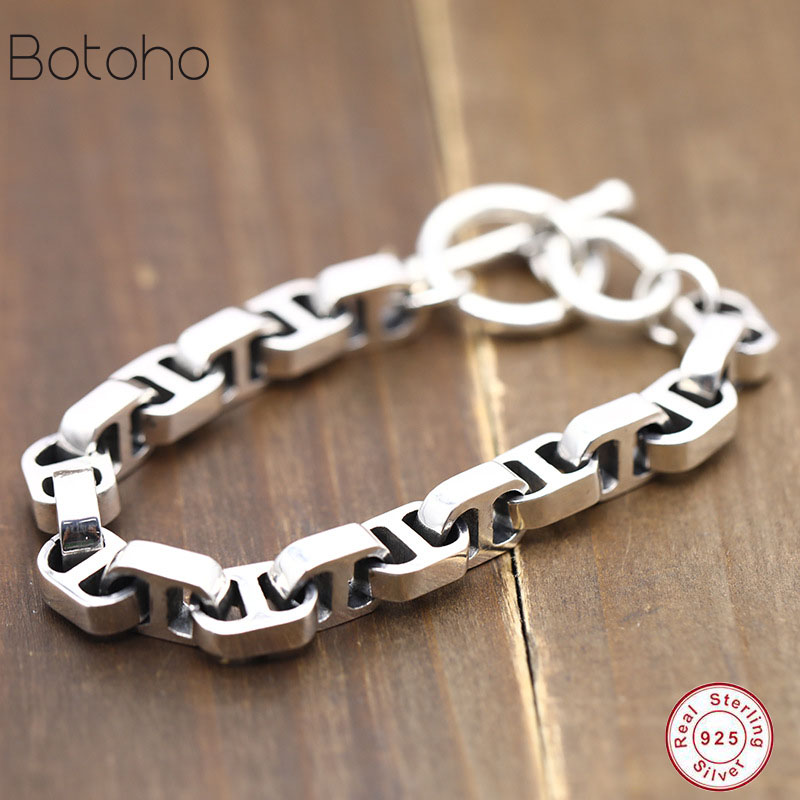 New Loom Bands 100% Real 925 Sterling Silver Simple Men woman Friendship Charm Bracelet Bangle Handmade Thailand Silver Jewelry