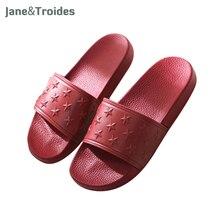 Maison d'été Hommes Pantoufles Anti Slip Étoiles Fretwork PVC Plate-Forme De Bain Douche Flip Flops de Plage En Plein Air Sandales De Mode Hommes Chaussures