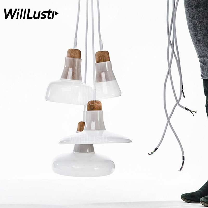 Willlustr modern pendant light white smoke glass Shadows LAMP Bedroom Sitting Room Restaurant Cafe bar office suspension lights